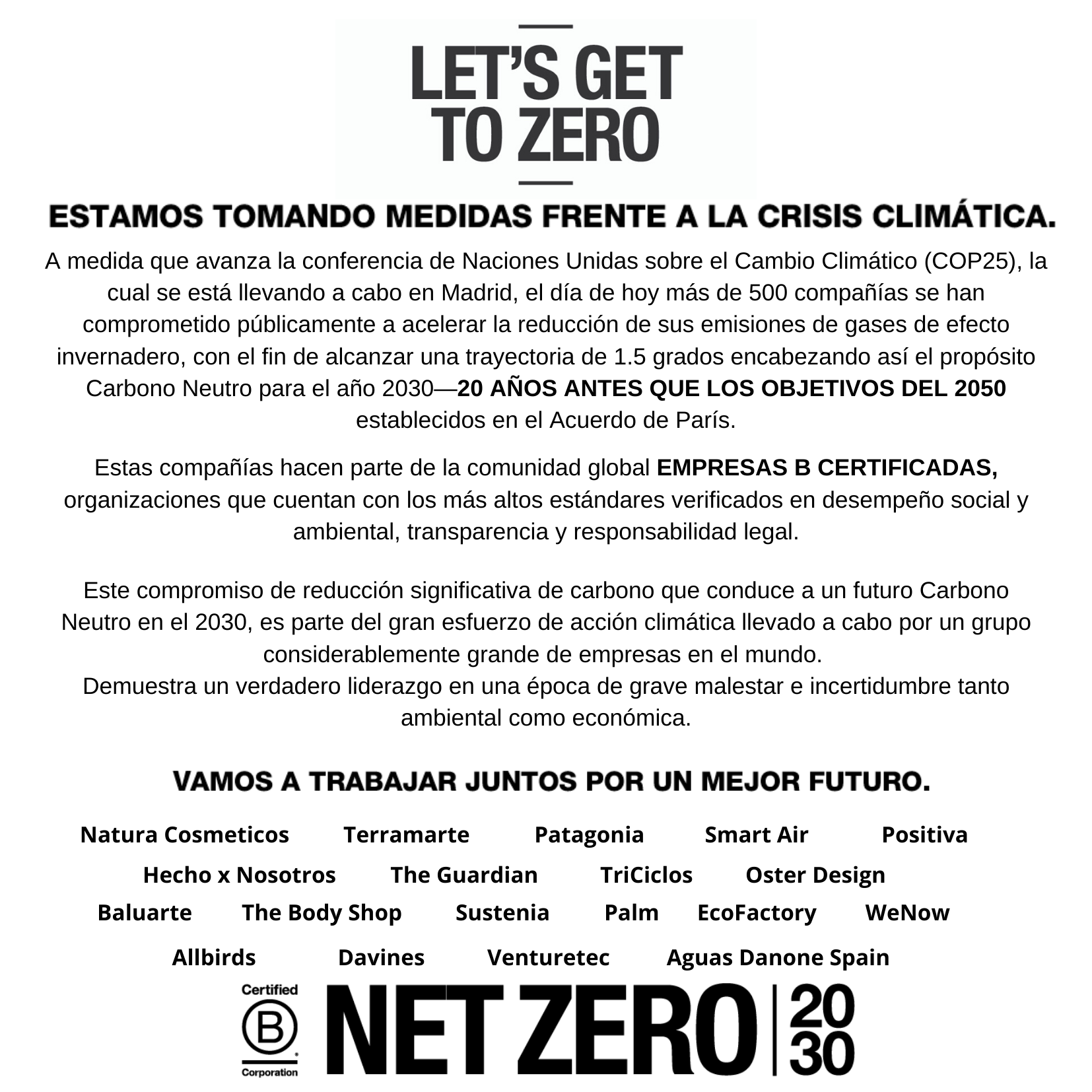Declaración carbono neutral 2030 2